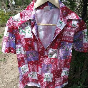 Vintage 1960's Women's Polyester Top